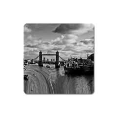River Thames Waterfall Large Sticker Magnet (square) by Londonimages