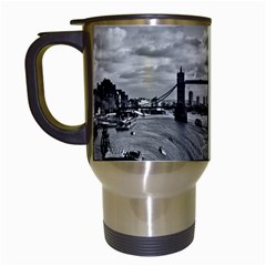 River Thames Waterfall White Travel Mug by Londonimages