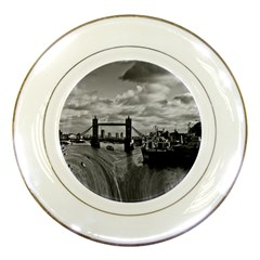 River Thames Waterfall Porcelain Display Plate by Londonimages