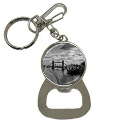 River Thames Waterfall Key Chain With Bottle Opener by Londonimages