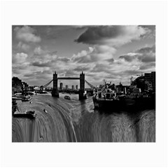 River Thames Waterfall Twin Sided Glasses Cleaning Cloth by Londonimages