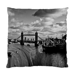 River Thames Waterfall Single Sided Cushion Case by Londonimages