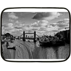 River Thames Waterfall Twin-sided Mini Fleece Blanket by Londonimages