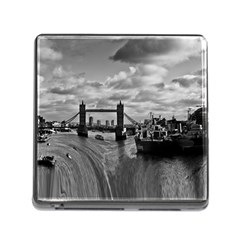 River Thames Waterfall Card Reader With Storage (square) by Londonimages