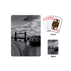 River Thames Waterfall Playing Cards (mini) by Londonimages