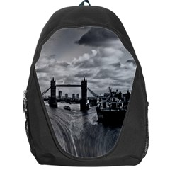River Thames Waterfall Backpack Bag