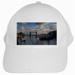 Thames Waterfall Color White Baseball Cap by Londonimages