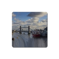Thames Waterfall Color Large Sticker Magnet (square)