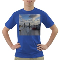 Thames Waterfall Color Colored Mens'' T Shirt