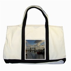 Thames Waterfall Color Two Toned Tote Bag