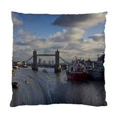 Thames Waterfall Color Single Sided Cushion Case by Londonimages