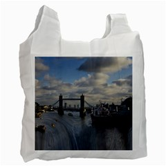Thames Waterfall Color Twin Sided Reusable Shopping Bag by Londonimages