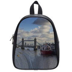 Thames Waterfall Color Small School Backpack by Londonimages