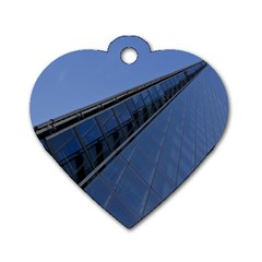 The Shard London Single Sided Dog Tag (heart) by Londonimages