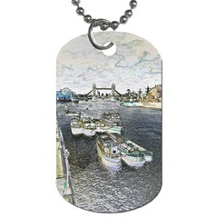 River Thames Art Twin Sided Dog Tag by Londonimages