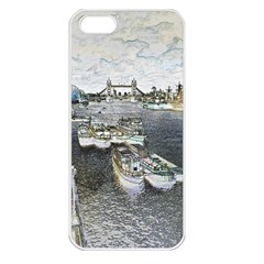 River Thames Art Apple Iphone 5 Seamless Case (white) by Londonimages