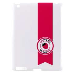 Brand Ribbon Pink With White Apple Ipad 3/4 Hardshell Case (compatible With Smart Cover)