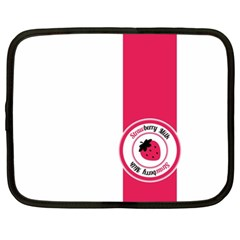 Brand Ribbon Pink With White Netbook Case (xl)