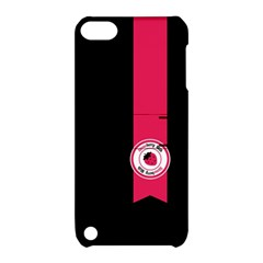 Brand Ribbon Pink With Black Apple Ipod Touch 5 Hardshell Case With Stand