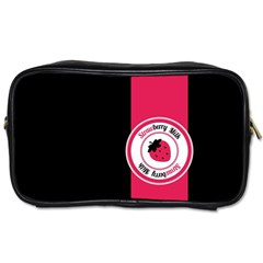 Brand Ribbon Pink With Black Toiletries Bag (two Sides) by strawberrymilk