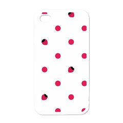 Strawberry Dots Pink Apple Iphone 4 Case (white)