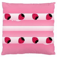 Strawberry Cream Cake Large Cushion Case (two Sides) by strawberrymilk