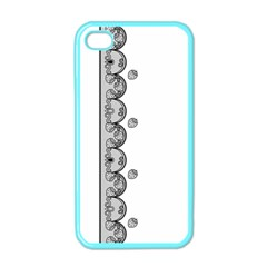 Lace White Dots White With Black Apple Iphone 4 Case (color) by strawberrymilk