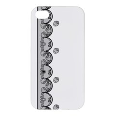 Lace White Dots White With Black Apple Iphone 4/4s Hardshell Case by strawberrymilk