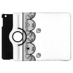 Lace White Dots White With Black Apple Ipad Mini Flip 360 Case by strawberrymilk