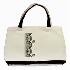 Lace White Dots White With Black Classic Tote Bag by strawberrymilk