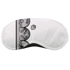 Lace White Dots White With Black Sleeping Mask by strawberrymilk
