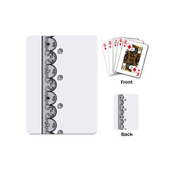 Lace White Dots White With Black Playing Cards (mini) by strawberrymilk