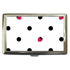 Strawberry Dots Black Cigarette Money Case