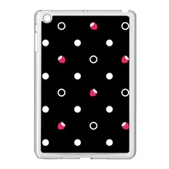 Strawberry Dots White With Black Apple Ipad Mini Case (white)