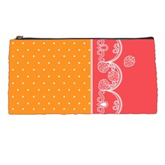 Lace Dots With Rose Gold Pencil Case by strawberrymilk