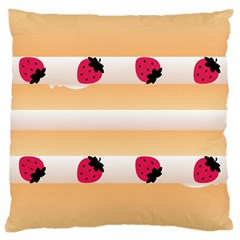 Origin Strawberry Cream Cake Large Cushion Case (one Side)
