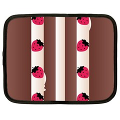 Choco Strawberry Cream Cake Netbook Case (large)