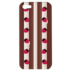 Choco Strawberry Cream Cake Apple Iphone 5 Hardshell Case