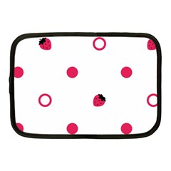 Strawberry Circles Pink 10  Netbook Case