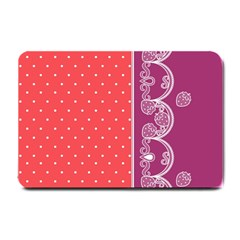 Lace Dots With Violet Rose Small Doormat by strawberrymilk
