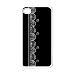 Strawberry Lace White With Black White Apple Iphone 4 Case