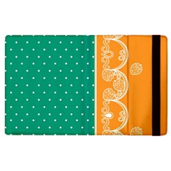 Lace Dots Gold Emerald Apple Ipad 3/4 Flip Case by strawberrymilk