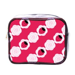 Cake Top Pink Mini Toiletries Bag (one Side) by strawberrymilk