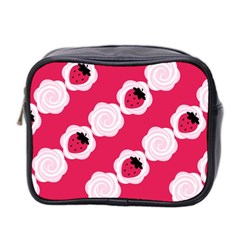 Cake Top Pink Mini Toiletries Bag (two Sides) by strawberrymilk