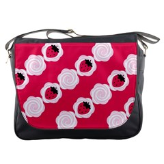 Cake Top Pink Messenger Bag by strawberrymilk