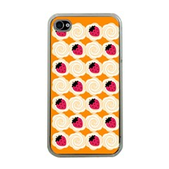 Cake Top Orange Apple Iphone 4 Case (clear) by strawberrymilk