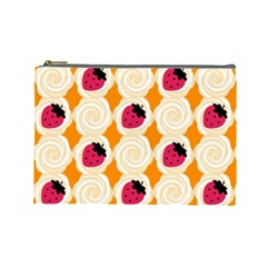 Cake Top Orange Cosmetic Bag (large) by strawberrymilk