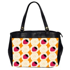 Cake Top Orange Oversize Office Handbag (two Sides) by strawberrymilk