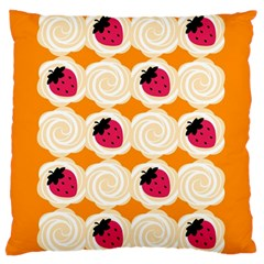 Cake Top Orange Large Cushion Case (one Side) by strawberrymilk