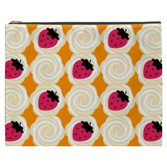 Cake Top Orange Cosmetic Bag (xxxl) by strawberrymilk